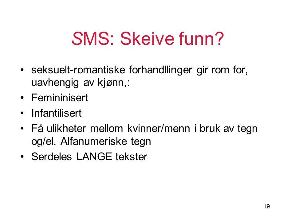 SMS: Skeive funn seksuelt-romantiske forhandllinger gir rom for, uavhengig av kjønn,: Femininisert.