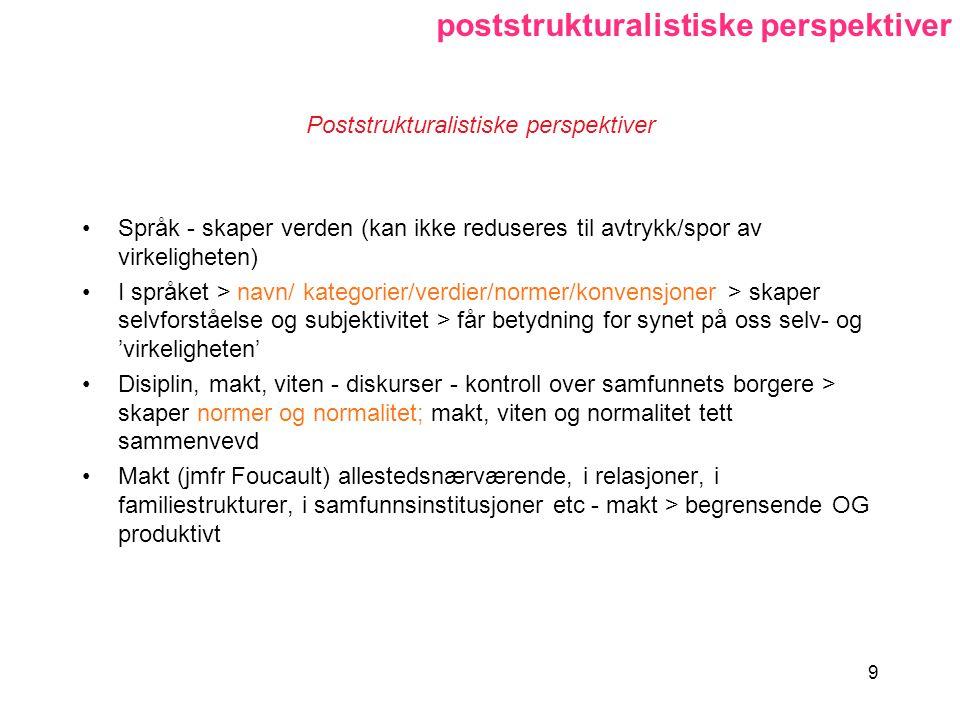 Poststrukturalistiske perspektiver