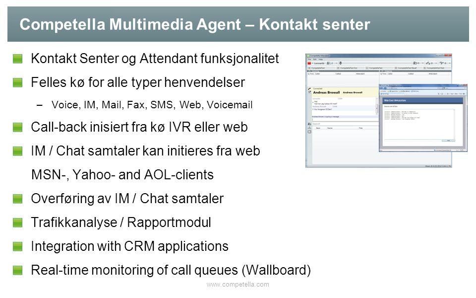 Competella Multimedia Agent – Kontakt senter