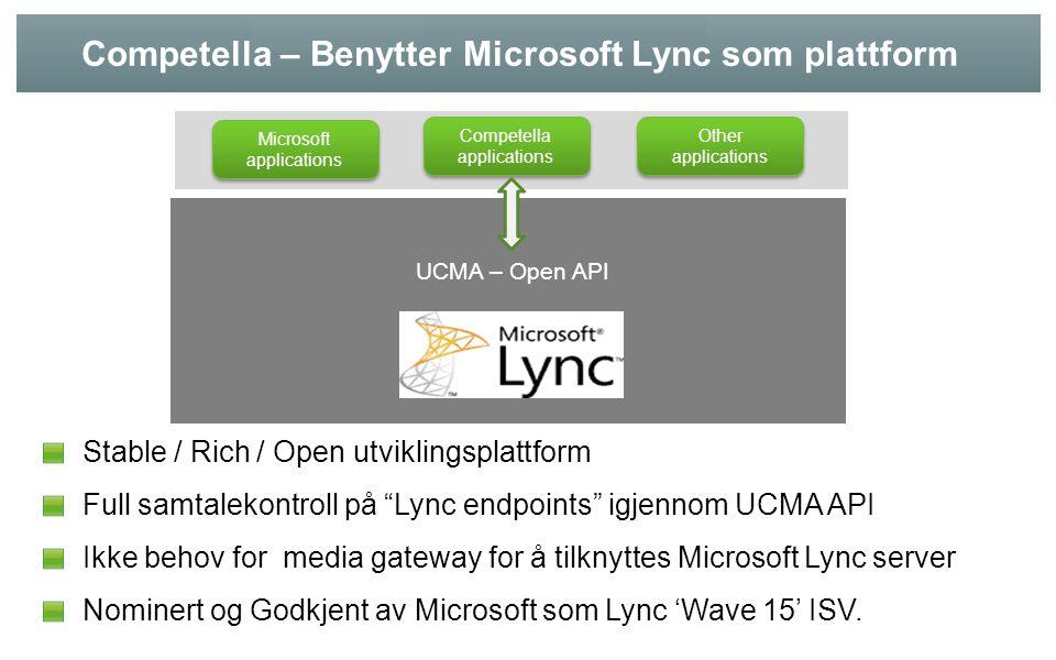 Competella – Benytter Microsoft Lync som plattform