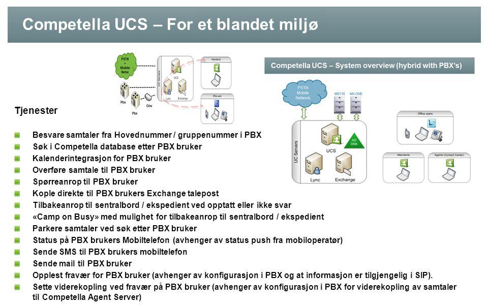 Competella UCS – For et blandet miljø