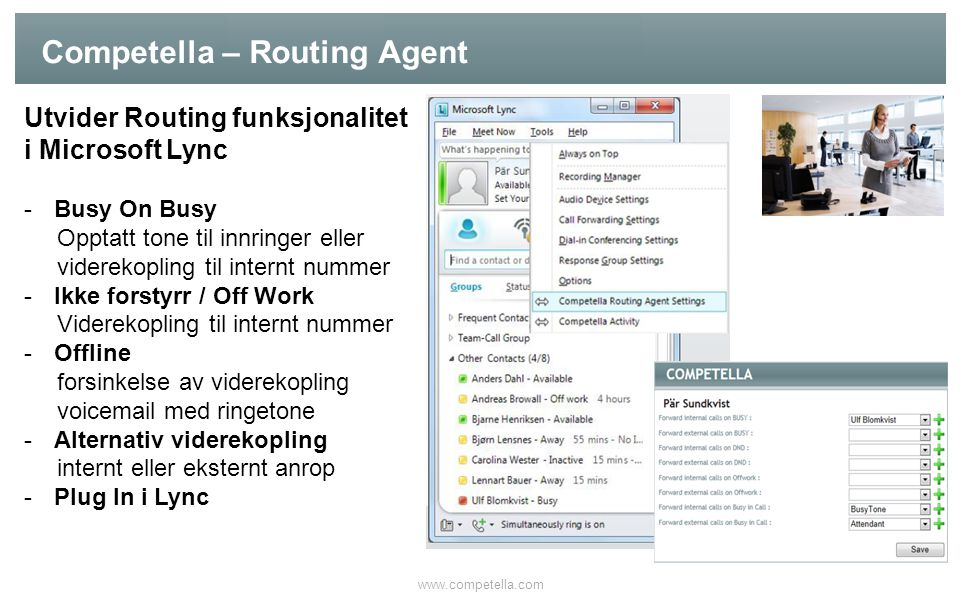 Competella – Routing Agent