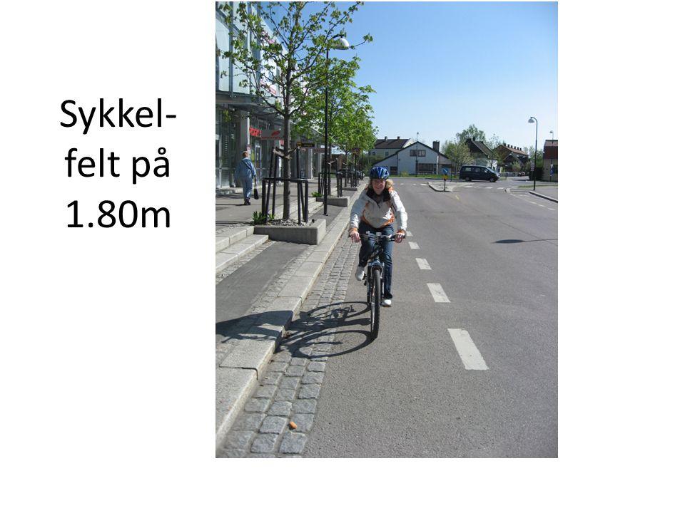 Sykkel-felt på 1.80m