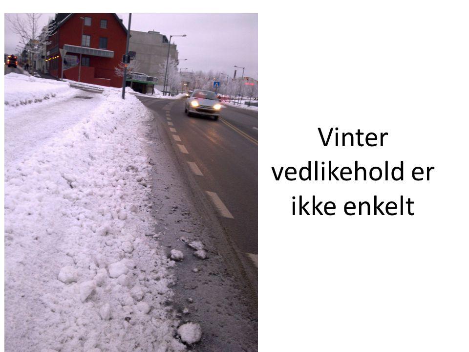 Vinter vedlikehold er ikke enkelt