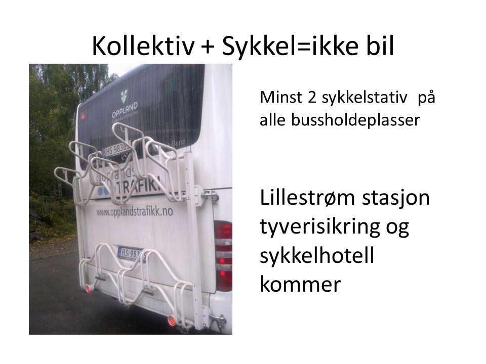 Kollektiv + Sykkel=ikke bil