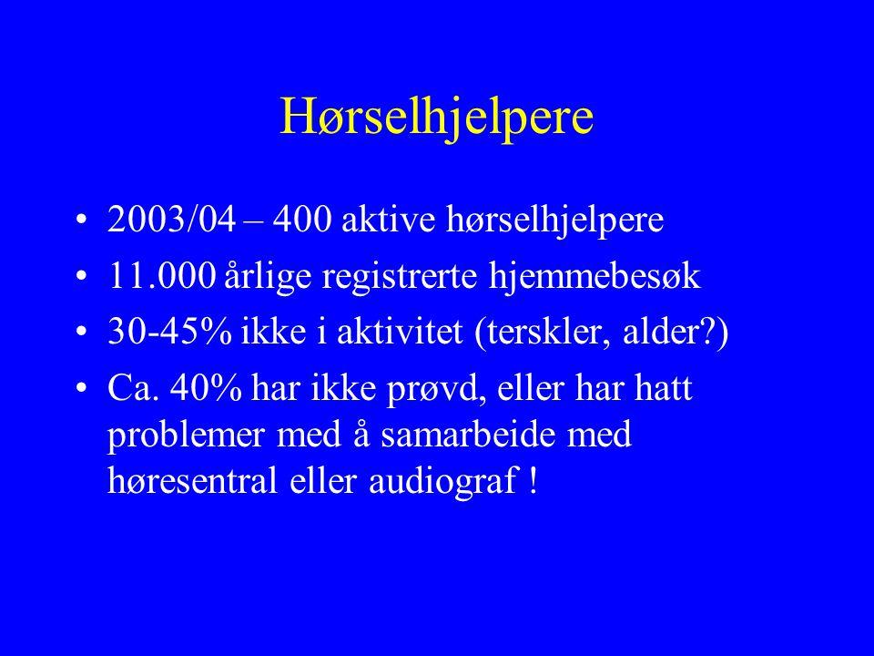 Hørselhjelpere 2003/04 – 400 aktive hørselhjelpere