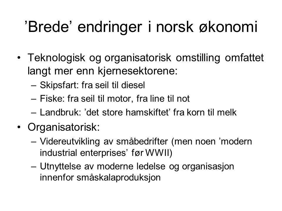 'Brede' endringer i norsk økonomi