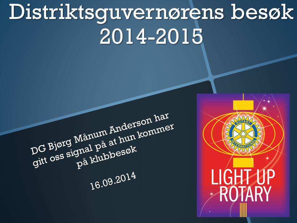 Distriktsguvernørens besøk 2014-2015
