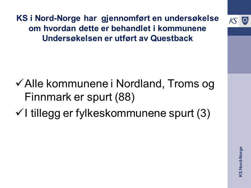 Alle kommunene i Nordland, Troms og Finnmark er spurt (88)