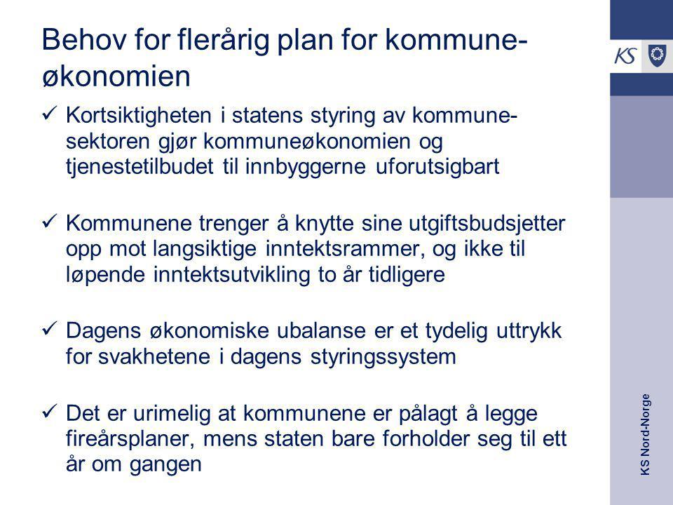 Behov for flerårig plan for kommune-økonomien
