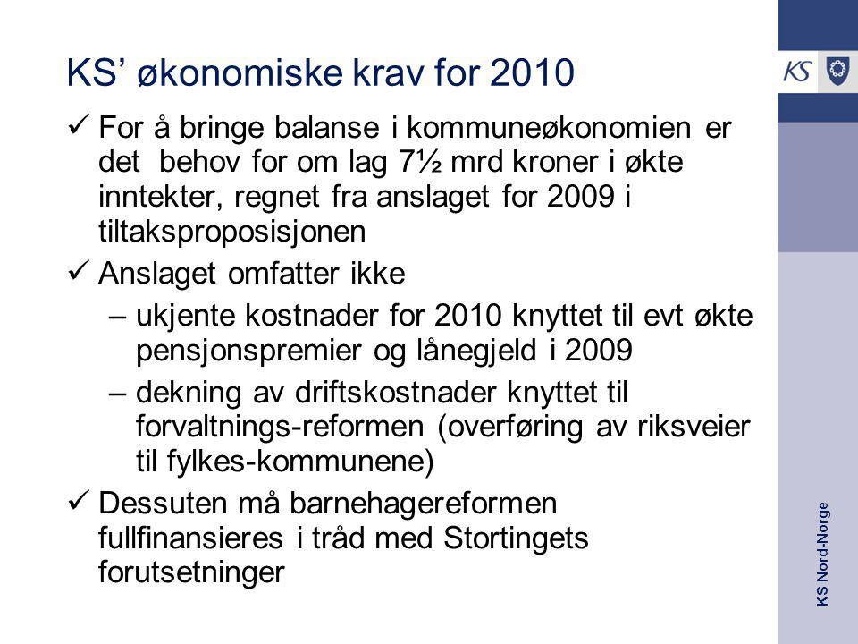 KS' økonomiske krav for 2010