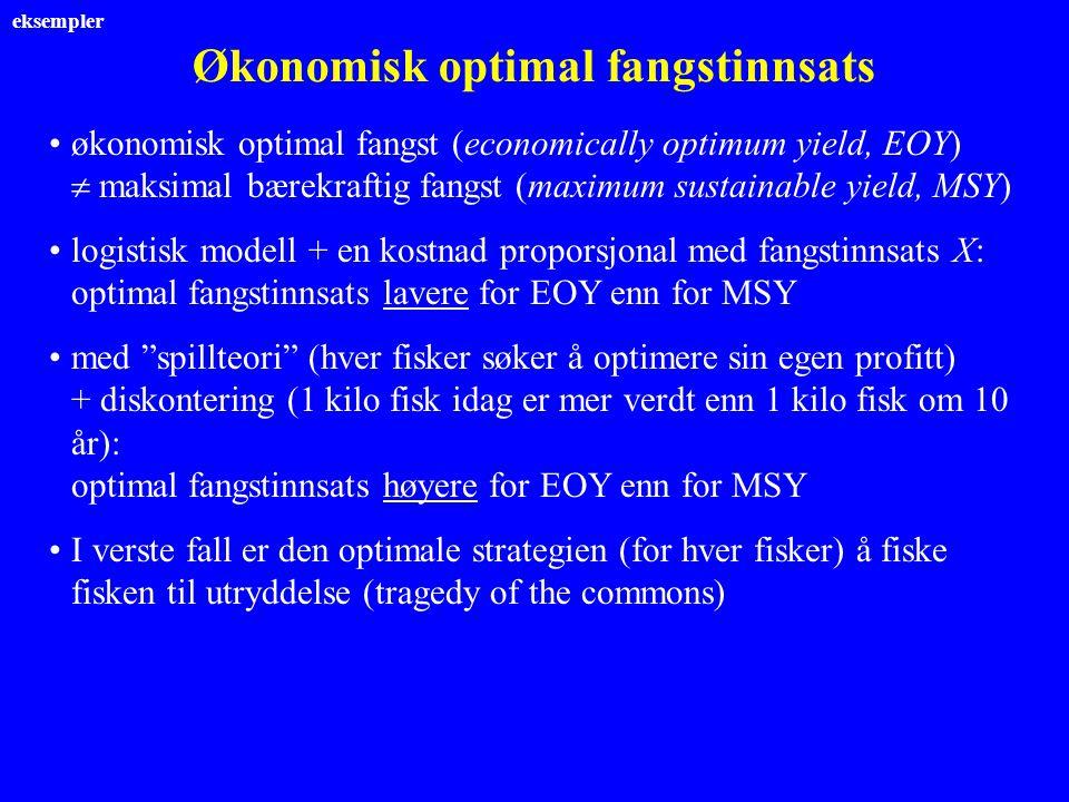 Økonomisk optimal fangstinnsats