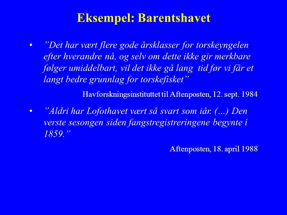 Eksempel: Barentshavet