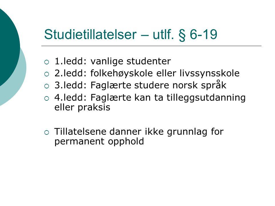 Studietillatelser – utlf. § 6-19