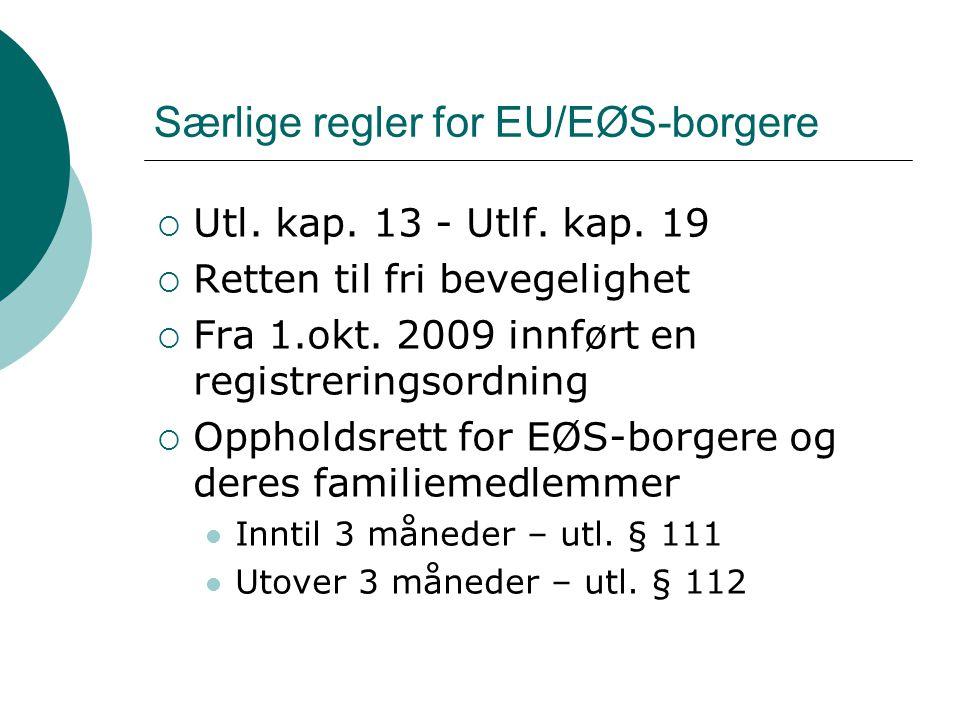 Særlige regler for EU/EØS-borgere