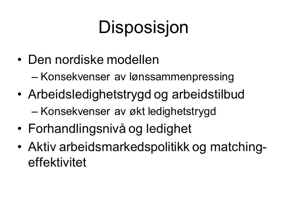 Disposisjon Den nordiske modellen