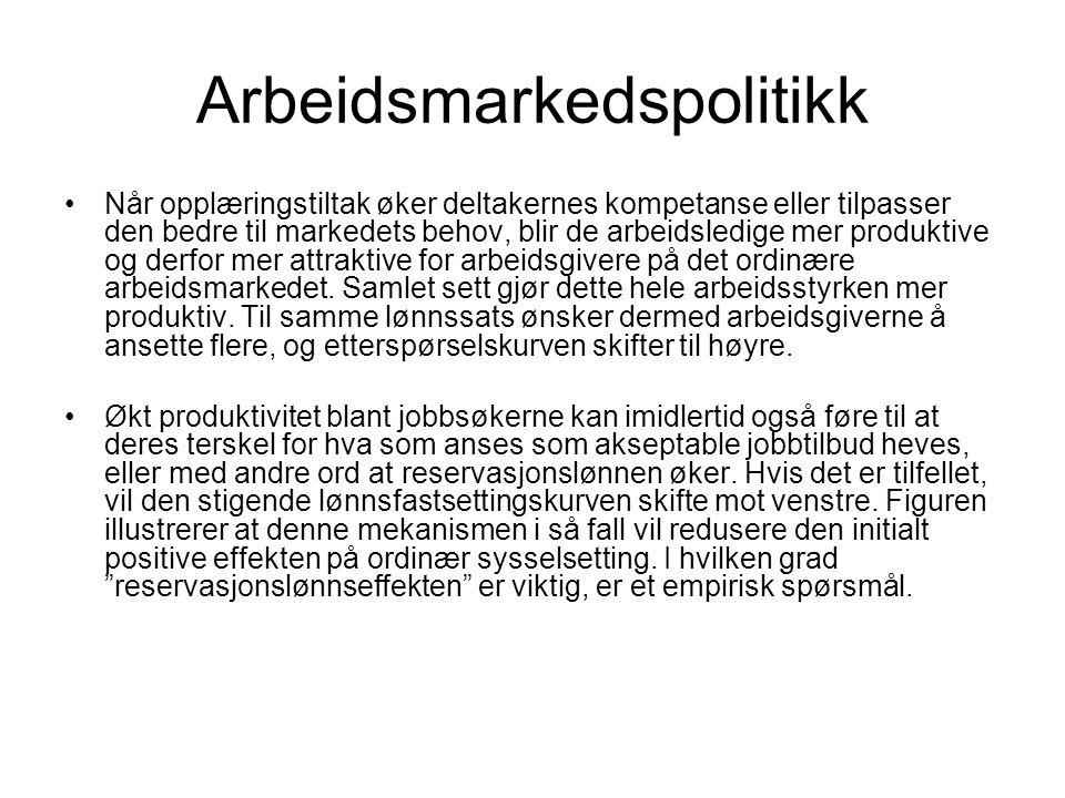 Arbeidsmarkedspolitikk