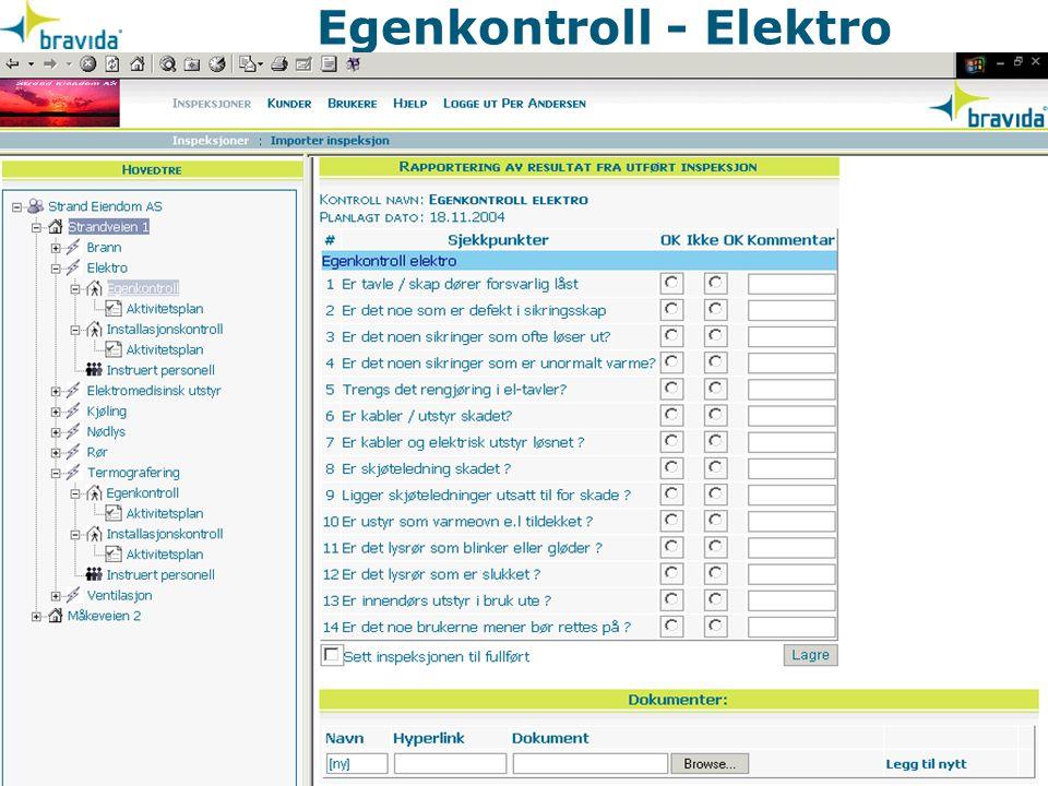 Egenkontroll - Elektro