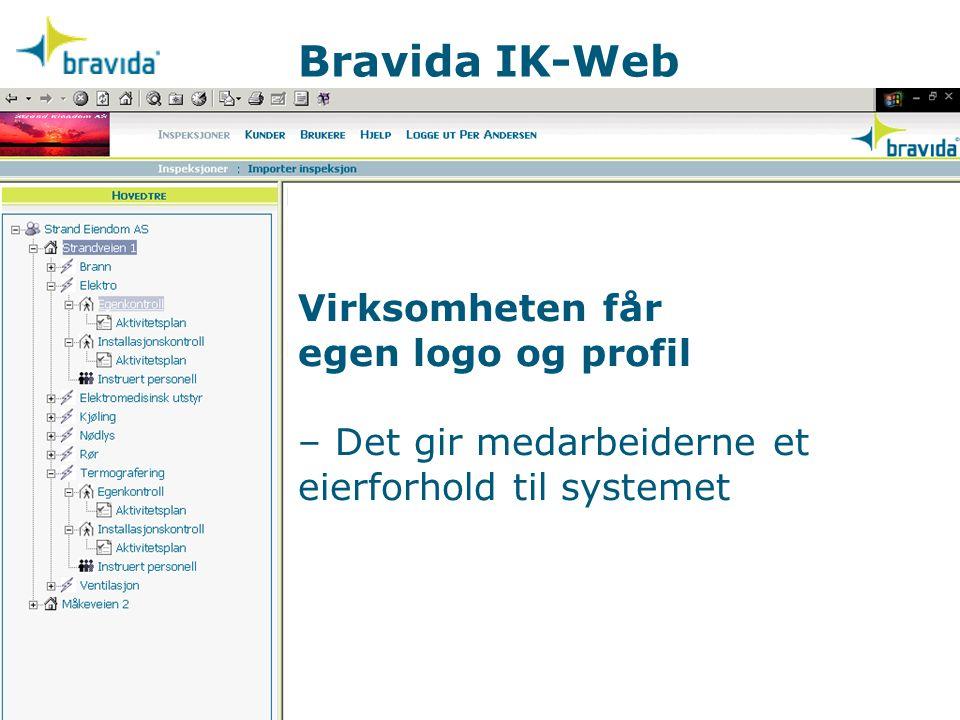 Bravida IK-Web Virksomheten får egen logo og profil – Det gir medarbeiderne et eierforhold til systemet.