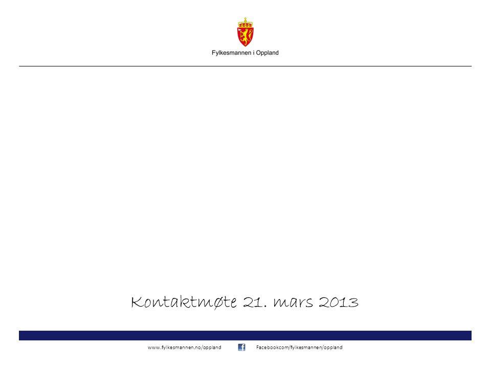 Kontaktmøte 21. mars 2013