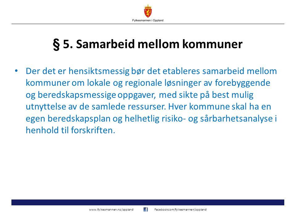 § 5. Samarbeid mellom kommuner