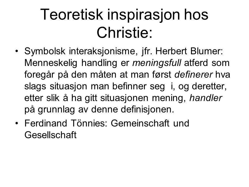 Teoretisk inspirasjon hos Christie: