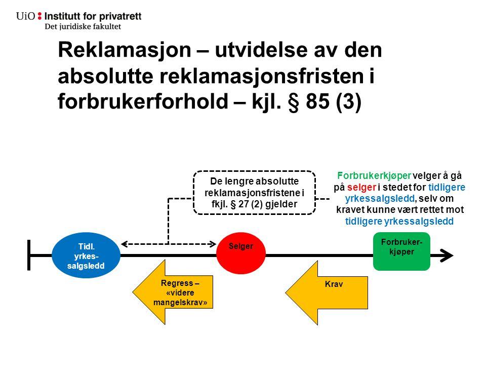 Reklamasjon – utvidelse av den absolutte reklamasjonsfristen i forbrukerforhold – kjl. § 85 (3)