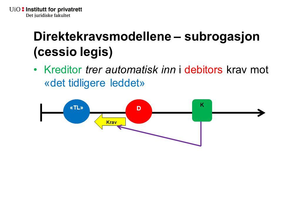 Direktekravsmodellene – subrogasjon (cessio legis)