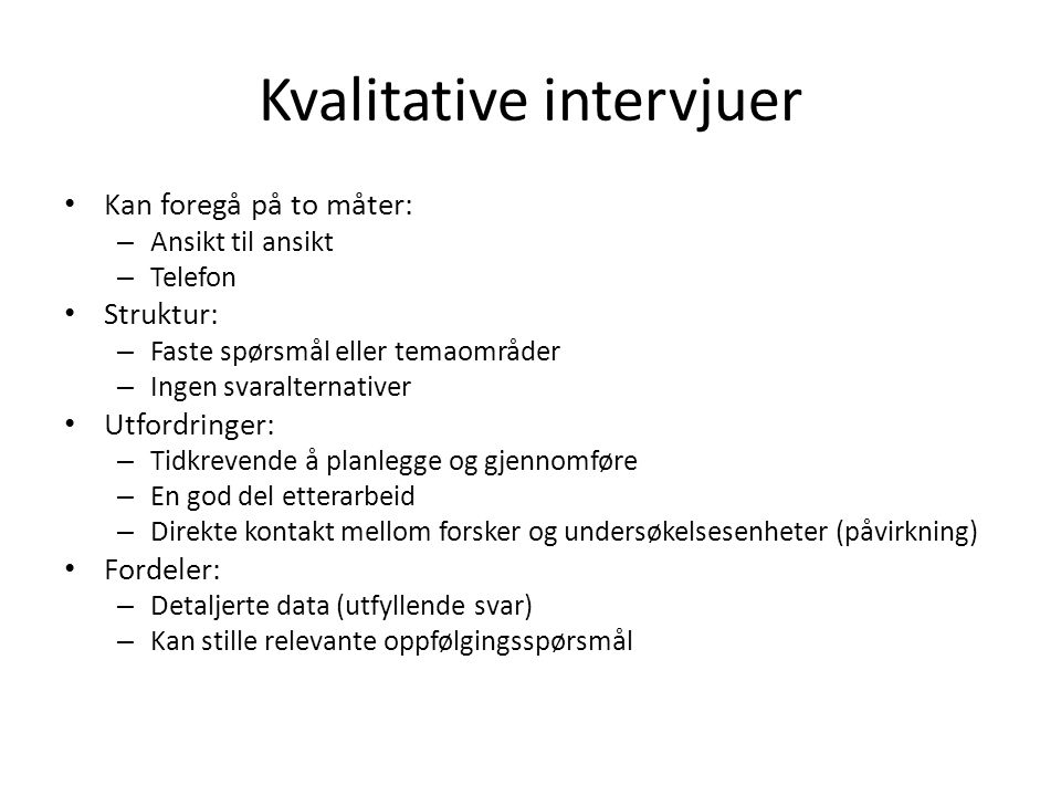 Kvalitative intervjuer