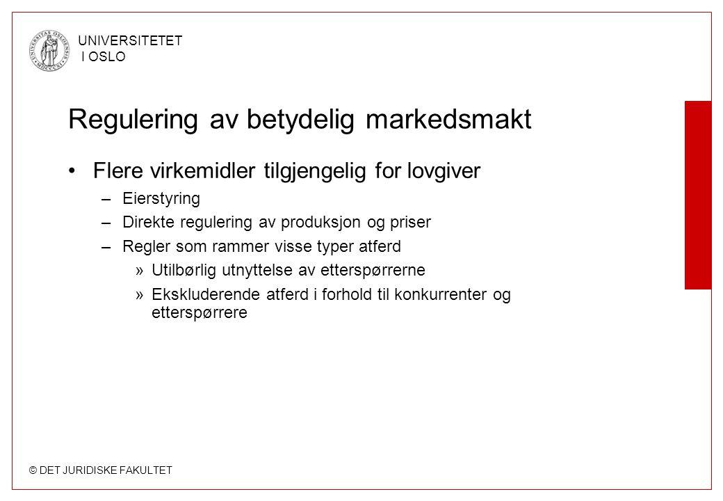 Regulering av betydelig markedsmakt