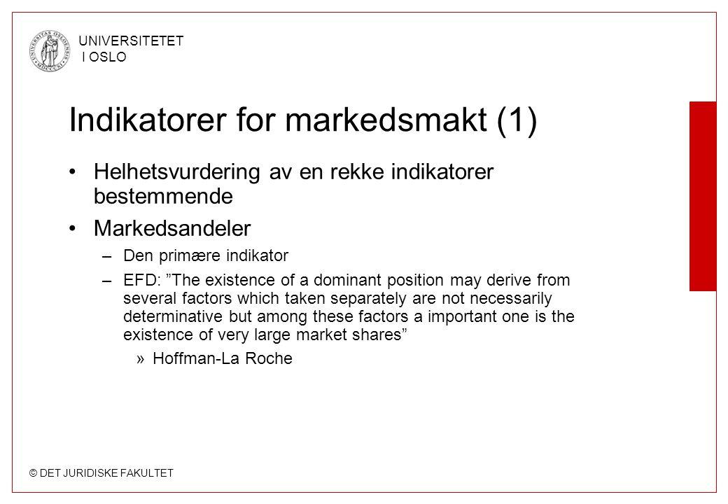 Indikatorer for markedsmakt (1)