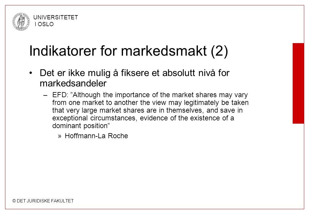 Indikatorer for markedsmakt (2)