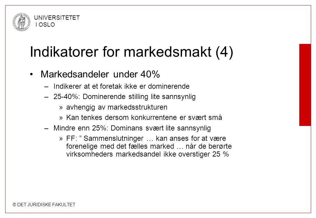 Indikatorer for markedsmakt (4)