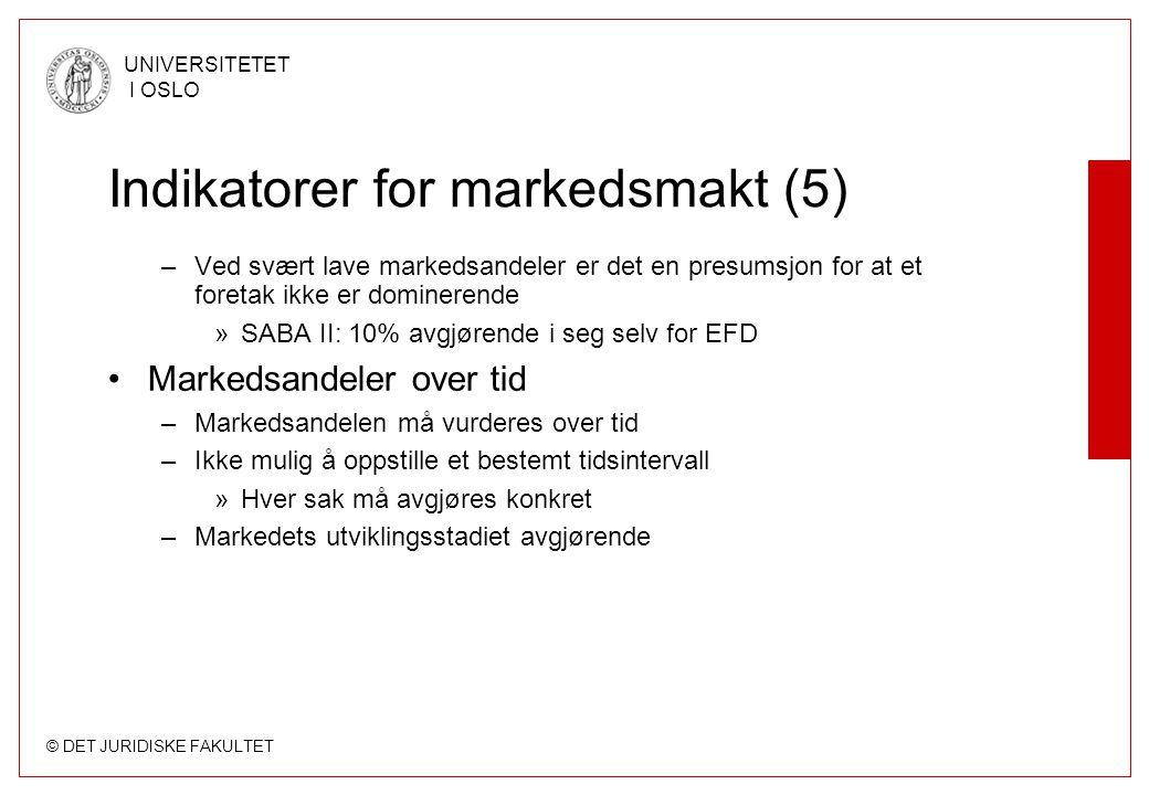 Indikatorer for markedsmakt (5)