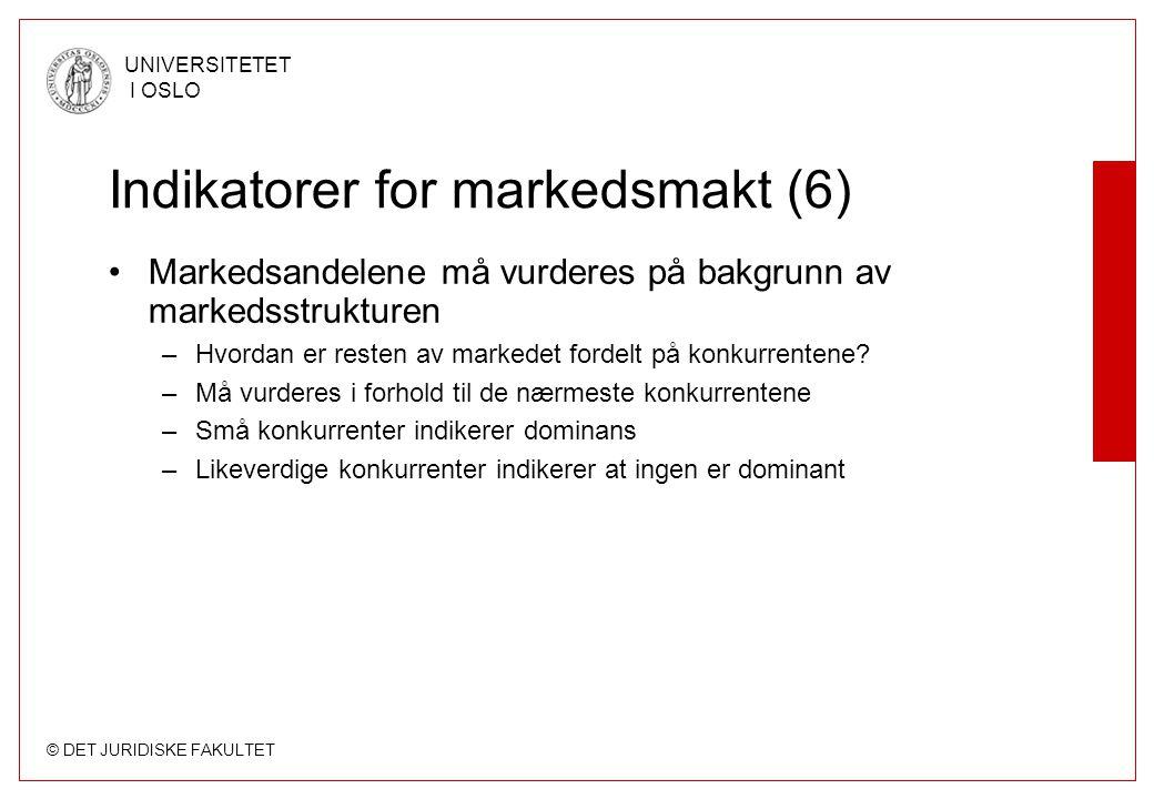 Indikatorer for markedsmakt (6)