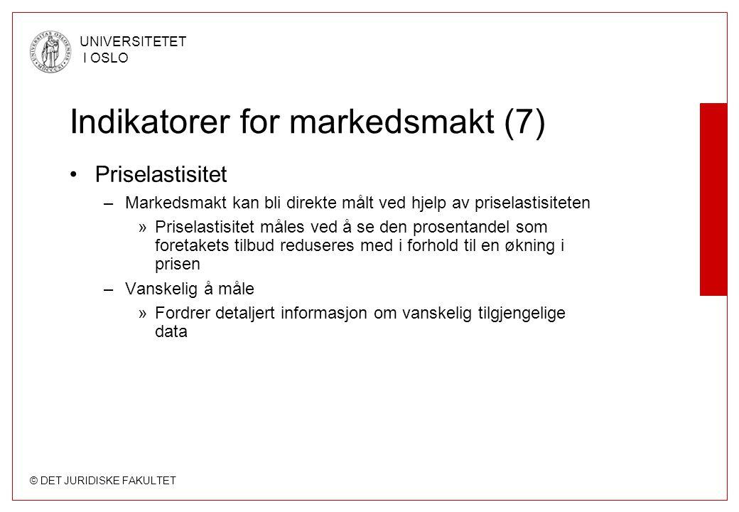 Indikatorer for markedsmakt (7)