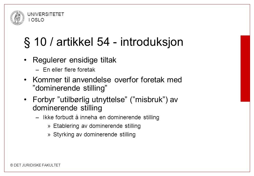 § 10 / artikkel 54 - introduksjon
