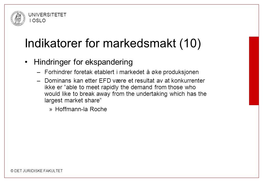 Indikatorer for markedsmakt (10)