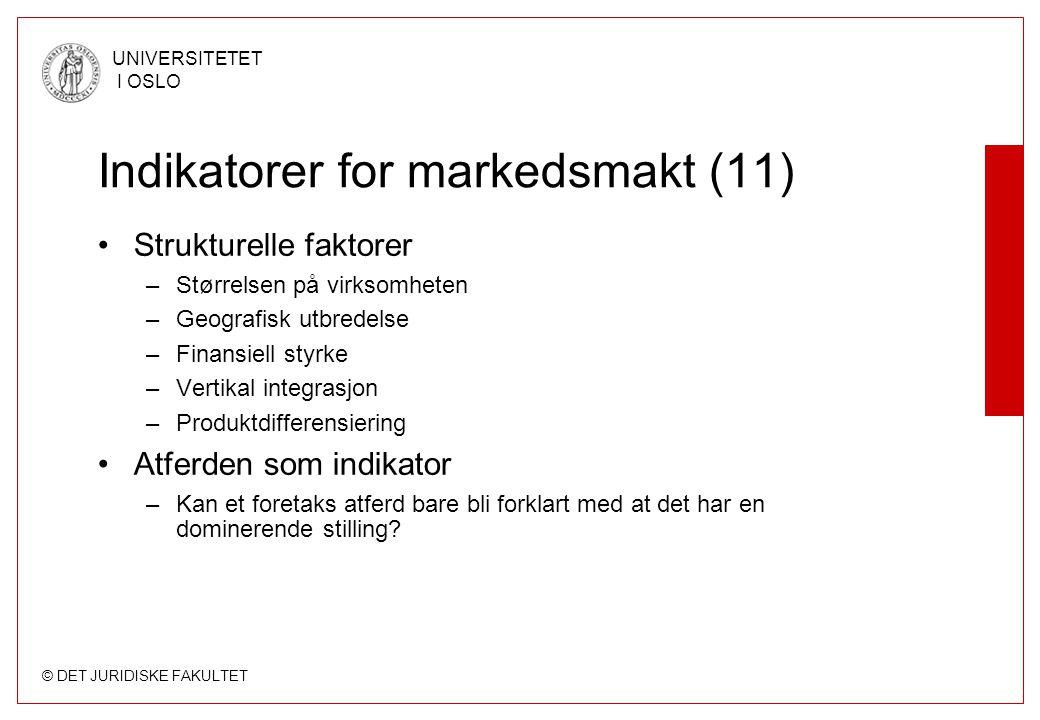 Indikatorer for markedsmakt (11)