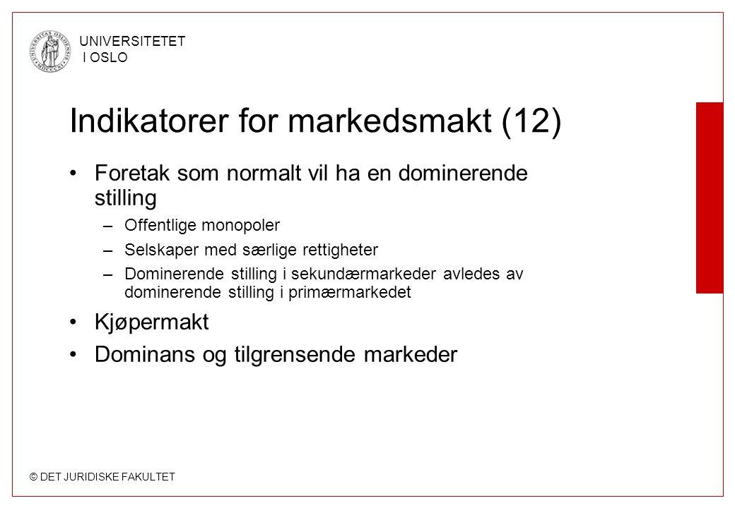 Indikatorer for markedsmakt (12)