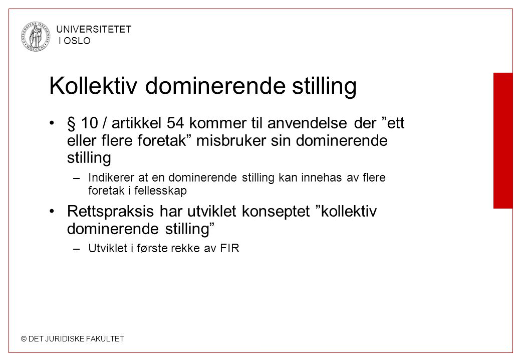 Kollektiv dominerende stilling