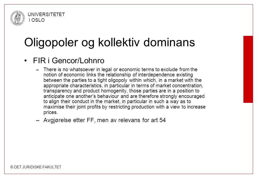 Oligopoler og kollektiv dominans