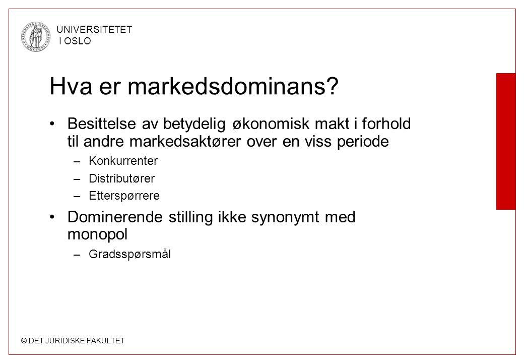 Hva er markedsdominans