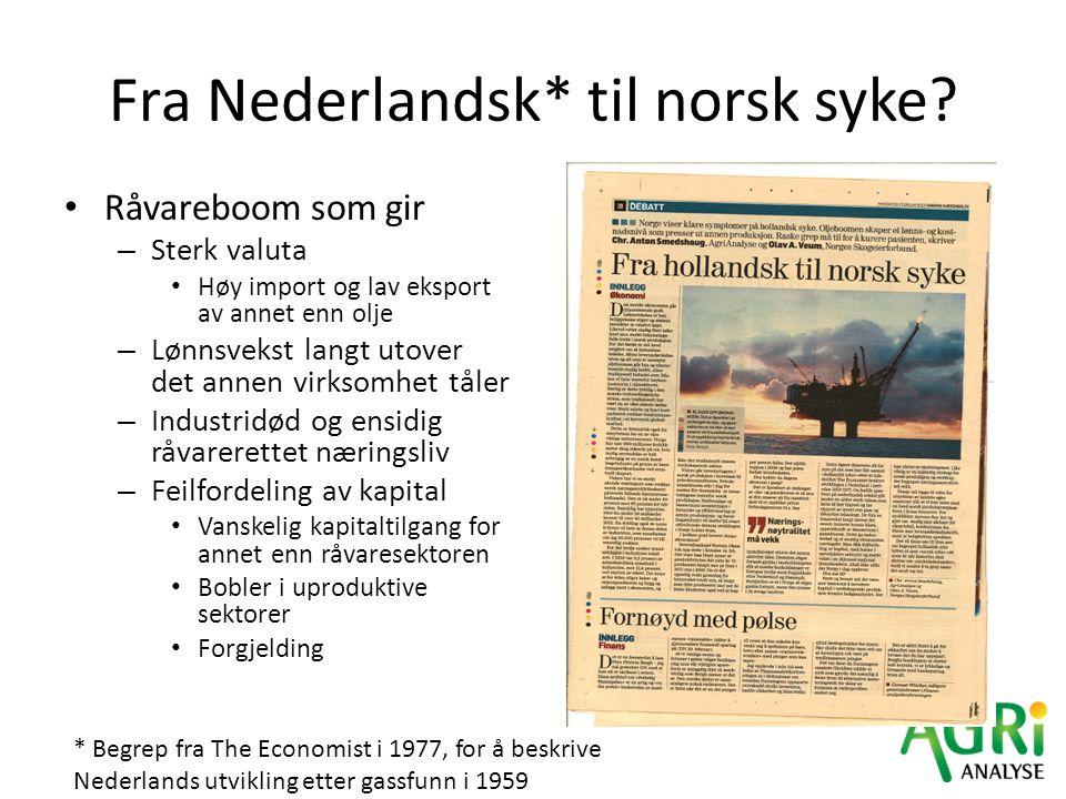 Fra Nederlandsk* til norsk syke
