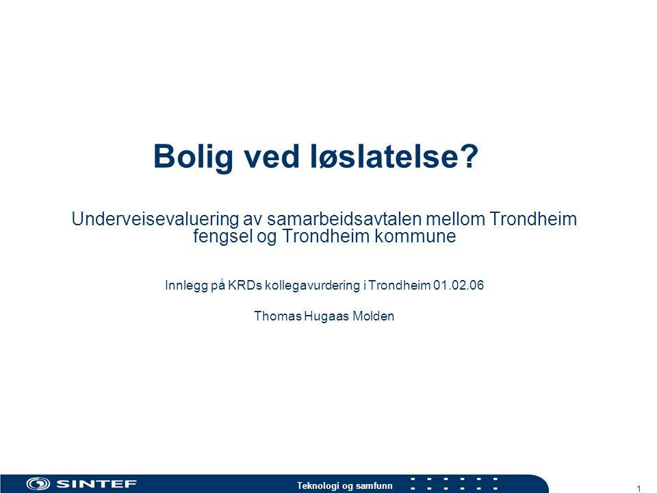 Innlegg på KRDs kollegavurdering i Trondheim 01.02.06