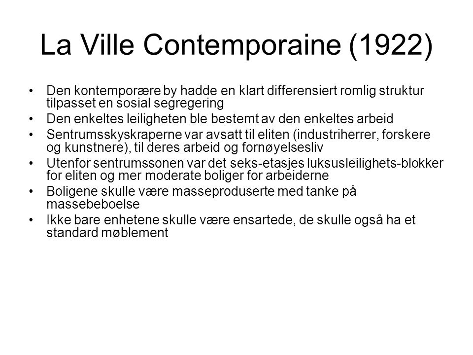 La Ville Contemporaine (1922)