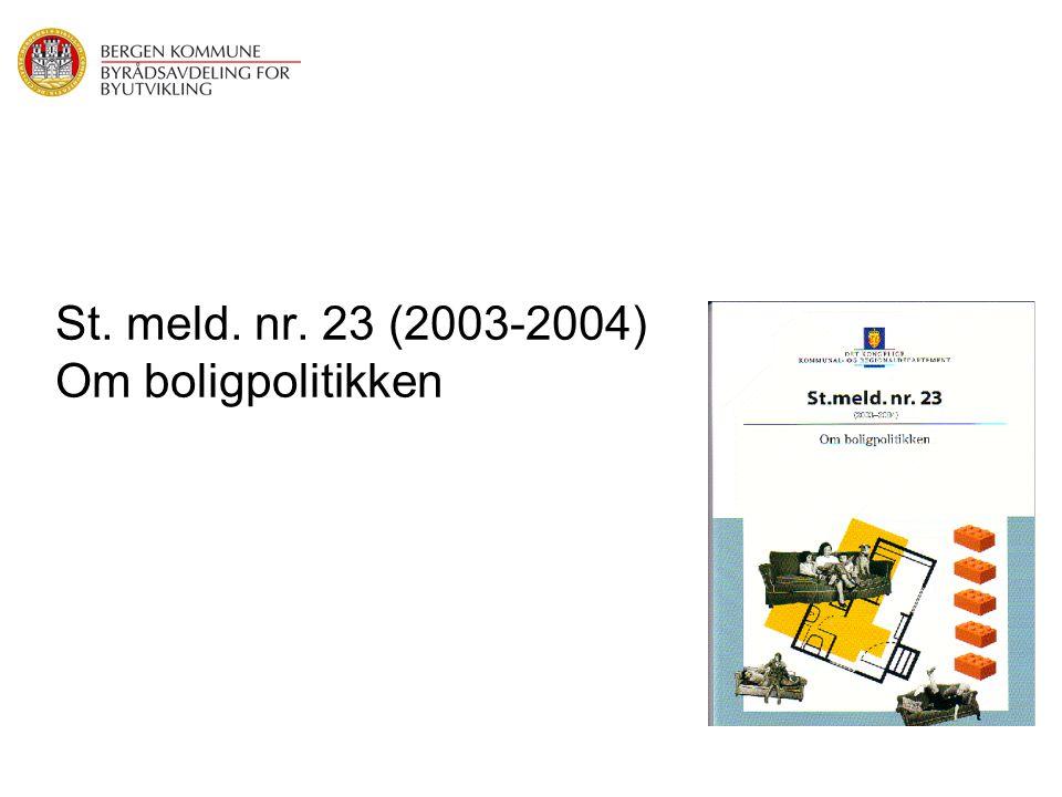 St. meld. nr. 23 (2003-2004) Om boligpolitikken
