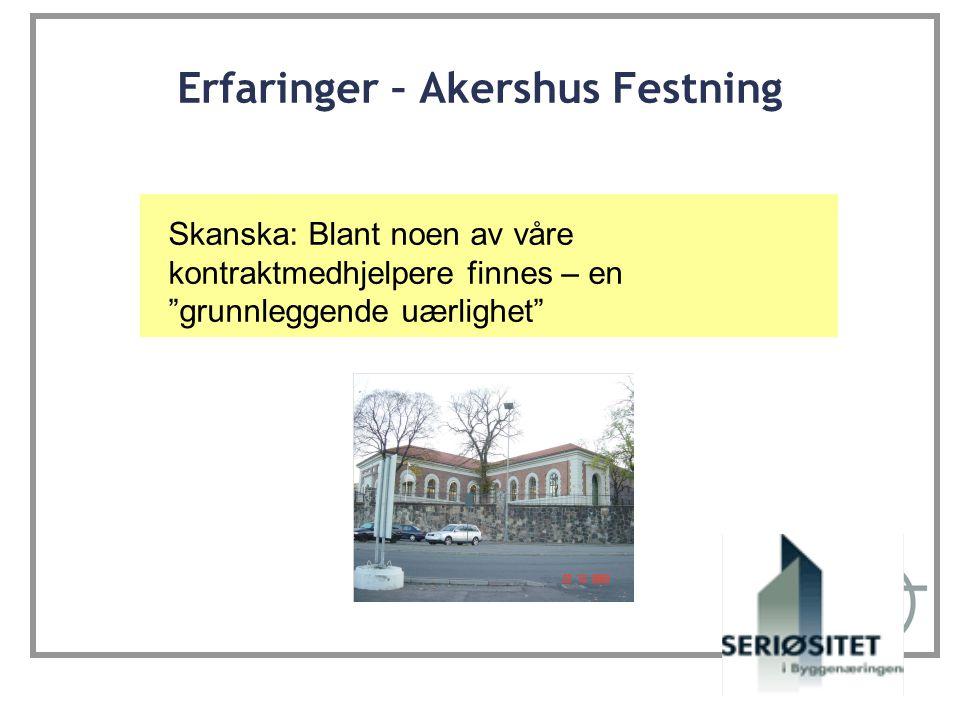 Erfaringer – Akershus Festning