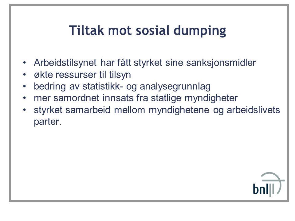 Tiltak mot sosial dumping