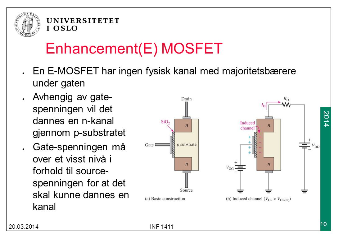 Enhancement(E) MOSFET